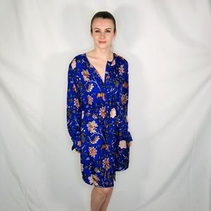 Diane Von Furstenberg Blue Canton Electric Dress